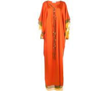Langes Kleid im Layering-Look