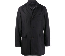 zip-up single-breasted coat