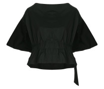 elasticated waist slash neck top