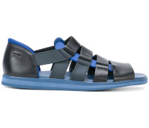 strappy panelled sandals
