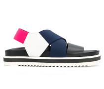 colour block platform sandals
