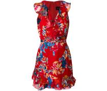 sleeveless floral print dress
