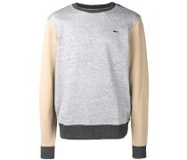 Meliertes Sweatshirt mit Kontrastärmeln