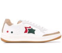 low top star logo sneakers