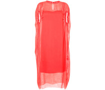 gathered sleeves layered dress - Unavailable