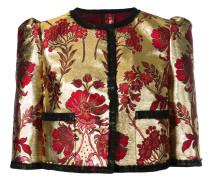 floral jacquard cropped jacket