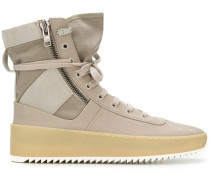 zipped hi-top sneakers
