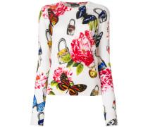 Pullover mit floralem Print