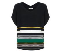 colour-block short-sleeve sweater
