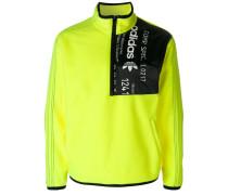 Fleece-Sweatshirt mit Reißverschlussdetail