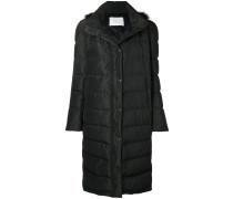 fur hooded duffle coat