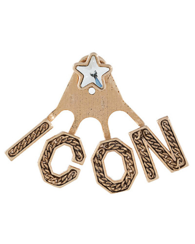 'Icon' Ohrring mit Kristall