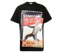 T-Shirt mit Poster-Print