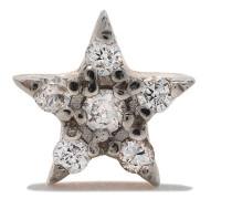14kt 'Mini Star' Rotgoldohrstecker