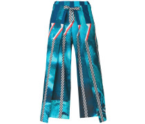 Cropped-Hose mit Faltendetails