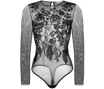 embellished tulle bodysuit