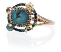'Galaxy' Ring mit Diamanten
