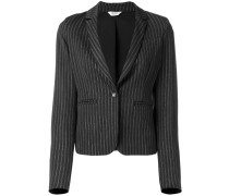 fitted pinstriped blazer