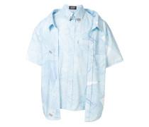 Oversized-Hemd mit Hemd-Print
