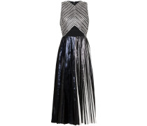 Re Edition Pleated Foil Dress