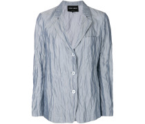 creased effect blazer