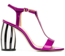 Sandalen mit gestreiftem Absatz