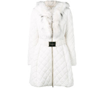 quilted zipped parka