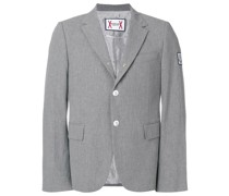 slim-fit button blazer