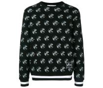 Sweatshirt mit Röntgenbild-Print