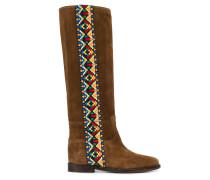 Stiefel mit Azteken-Print