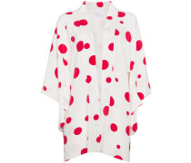 Silk kimono with red circles