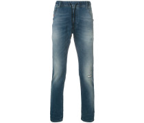 Gerade Jeans mit Kordelzug