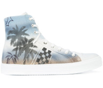 High-Top-Sneakers mit Palme-Print