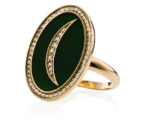 18kt 'Crescent Moon' Goldring mit Diamanten