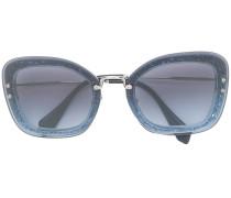 Runde Sonnenbrille mit Glitzer