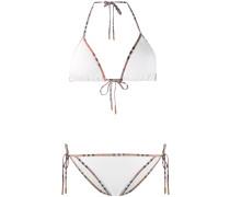 Triangel-Bikini mit Vintage-Check