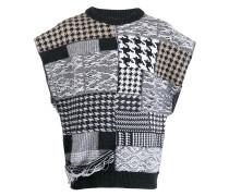 Pullover mit Patchwork-Print