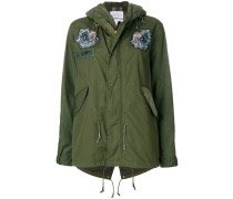 Military-Jacke mit Pailettenstickerei