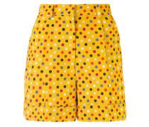 Shorts mit Punkte-Print