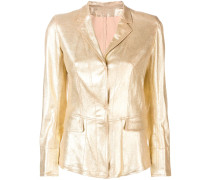 Lederjacke im Metallic-Look