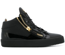 High-Top-Sneakers mit Kontrasteinsätzen