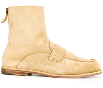 Wildlederstiefel im Penny-Loafer-Look