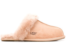Mules mit Faux Shearling