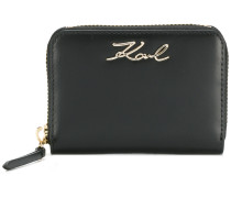 Karl signature zipped wallet