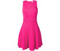 lace-up waist midi dress