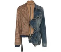 Jeansjacke mit Rüschen