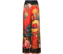 japan print palazzo trousers