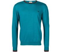 Pullover mit gestreiften Bündchen