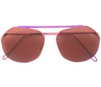 Pilotenbrille mit schmalen Bügeln