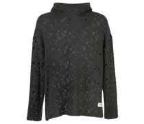 Perforierter 'Holey' Kapuzenpullover